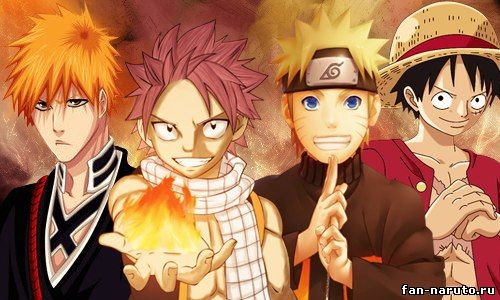 Fairy Tail+Naruto+Bleach+One Piece