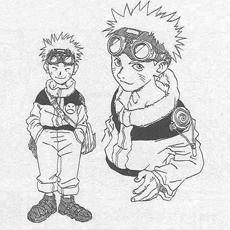 Первый Наруто, нарисованный Кишимото