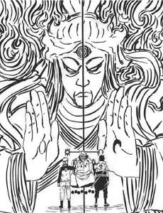 Хагоромо передаёт Наруто и Саске свою силу