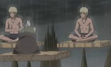 Наруто обучается Сендзюцу