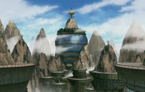Деревня скрытая в облаке