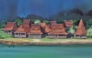 Деревня скрытая в водопаде