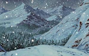 Деревня скрытая в снеге